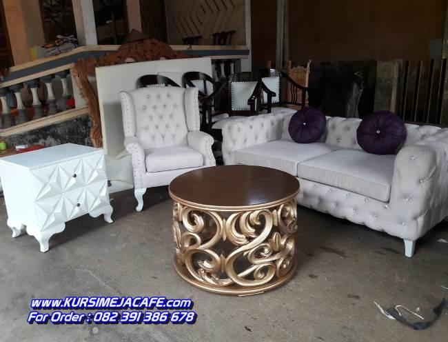 Kursi Sofa Tamu Minimalis Mewah Putih
