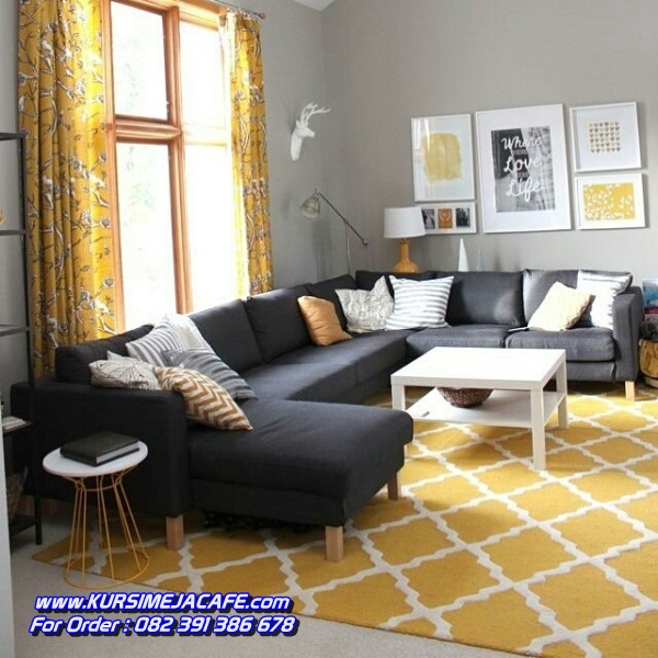 Kursi Sofa Tamu Simpel Model Sudut