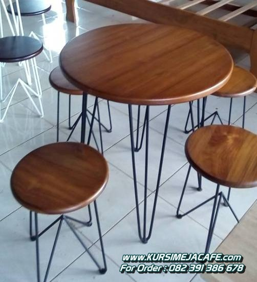 Kursi Cafe Besi Bulat Minimalis