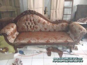 Kursi Sofa Pengantin Kayu Jati Ukir