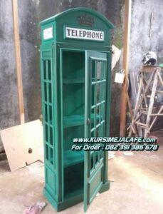 Rak Hias Cafe Kayu Classic Telephone