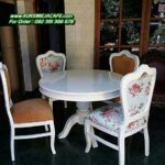 Kursi Makan Sofa Modern Motif Bunga