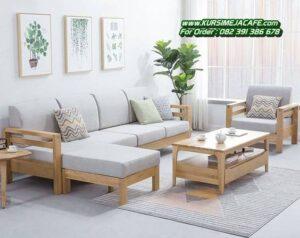 Kursi Tamu Minimalis Sofa Kayu Modern