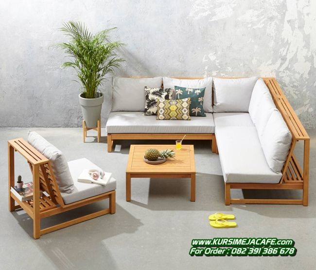 Kursi Tamu Sofa Minimalis Kayu Jati