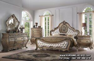 Set Kamar Tempat Tidur Ukir Klasik Mewah